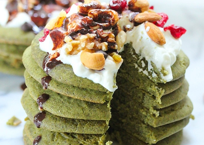 Green Tea Protein Pancakes