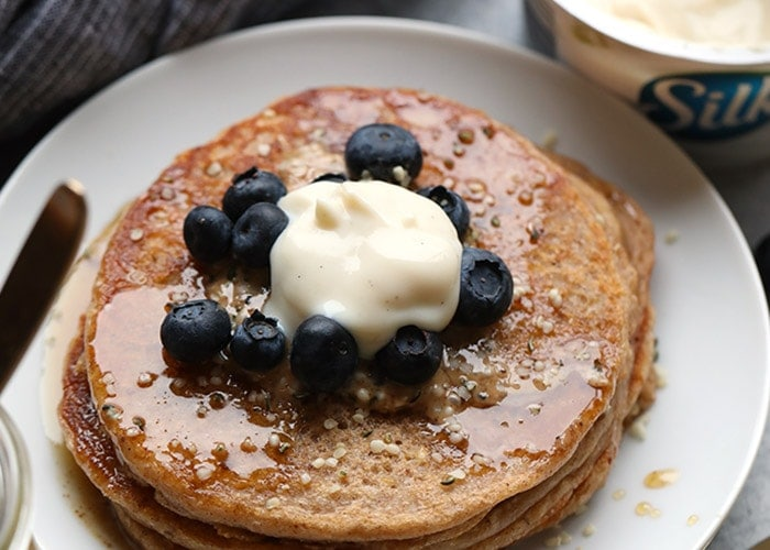 Super Simple Whole Wheat Vegan Pancakes