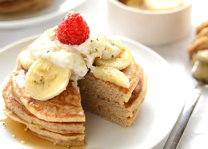 Whole-Grain Banana Pancakes