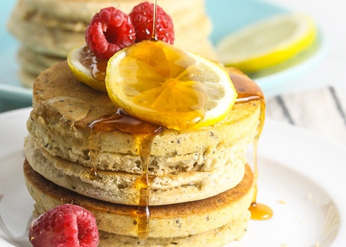 Whole Grain Lemon Chia Seed Pancakes