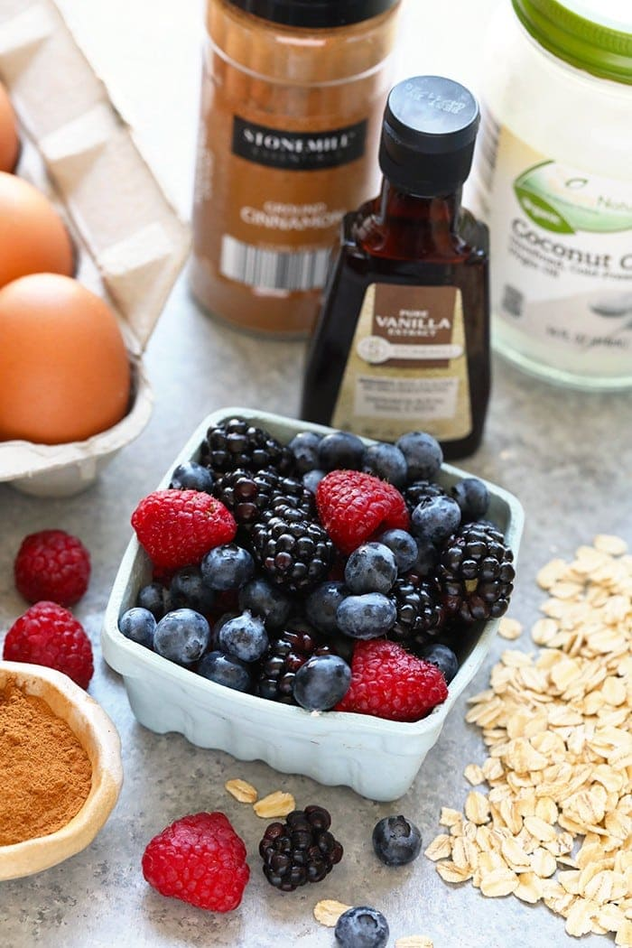 triple berry oatmeal cup ingredients