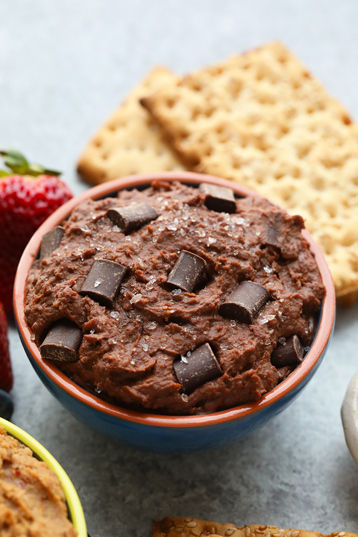 Brownie Batter Sea Salt Cookie Dough Dip