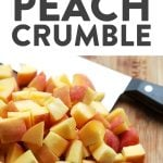 Peach season is here and this foil-pack peach crumble recipe on the grill is easy, delicious, and healthy! It's made with juicy peaches tossed in maple syrup and a yummy crumble topping, making it agluten freefruit crumble and a healthy dessert recipe for the summertime!