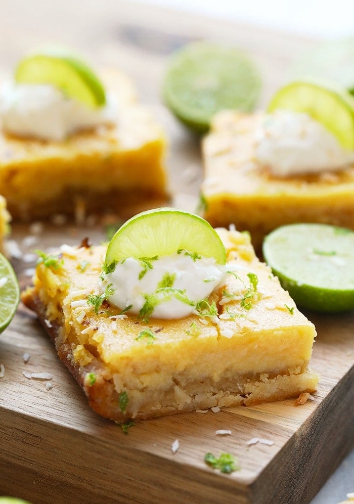 Finished key lime pie bars
