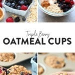 triple berry oatmeal cups