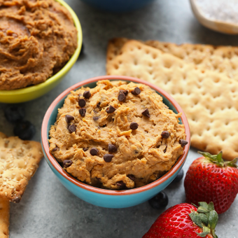 Healthy Edible Cookie Dough Dip Recipes (3 ways)