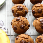 Check out our basic recipe for healthy muffins! You can use this recipe as a base and deviate to make all of your favorite healthy muffin recipes such as blueberry, banana chocolate chip, and pumpkin!