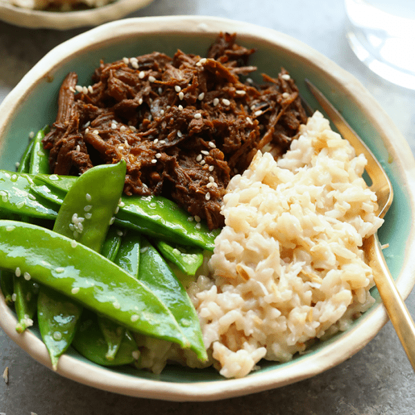 Looking for a perfectly sweetened, creamy coconut rice recipe to add to your next dinner? Look no further, you'll love this refined sugar free coconut rice. This Instant Pot rice is made in under 10 minutes using the manual function and quick release!