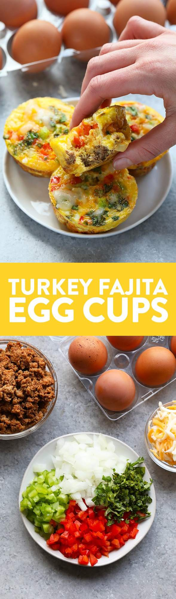 Turkey Fajita Egg Cups