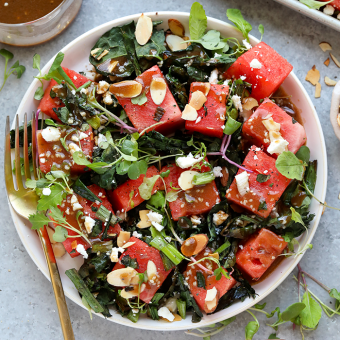 Grilled Kale and Watermelon Salad {video}
