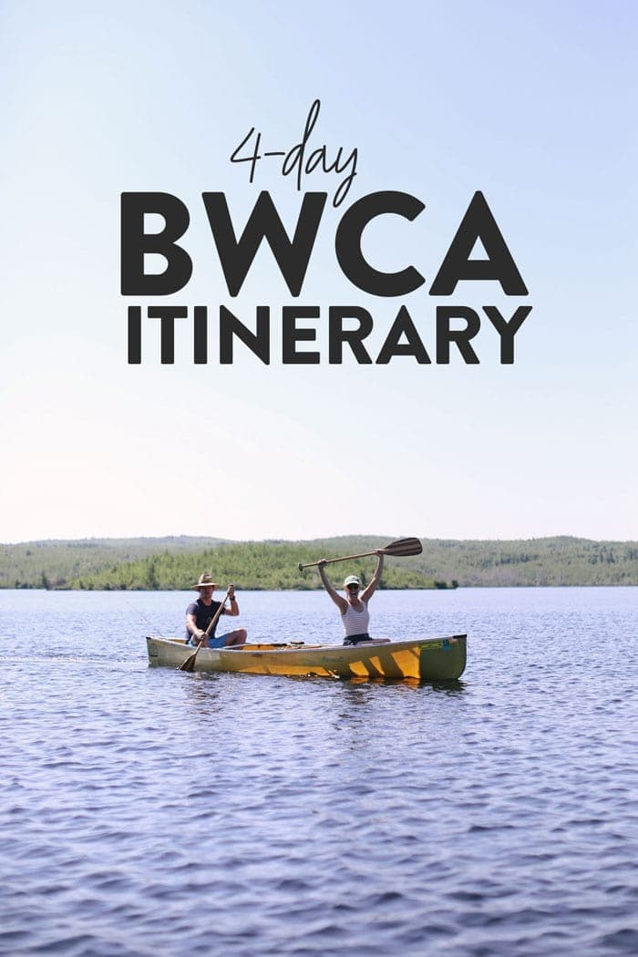 4-day BWCA itinerary