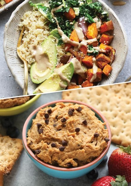 Add some creativityto your meatless meals with our favorite healthy plant based recipes! We've included flavor-packed breakfast, lunch, dinner and snack recipes for several vegetarian options to keep you satisfied all day long. PS: we've also included some of our best vegan recipes for those that also don't do dairy.