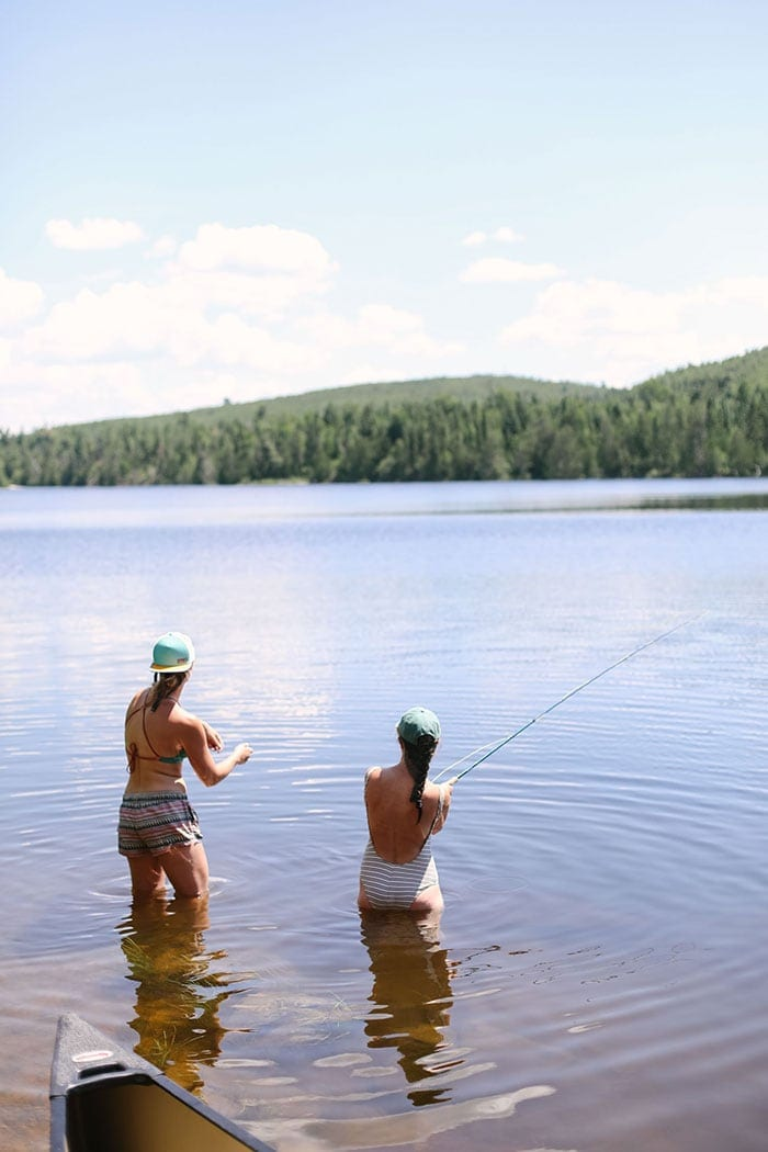 Fit Foodie Finds fly fishing in the BWCA