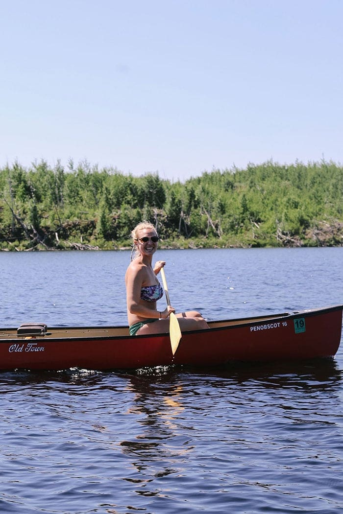 Fit Foodie Finds canoeing in the BWCA