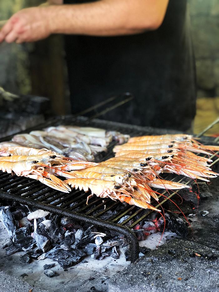 Shrimp on a grill
