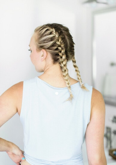 Girl, jump on the Frenchbraid bandwagon and learn how to French braid your own hair. Check out this tutorial on how to French braid your own hair. I'll walk you through it step by step as I do my own hair in pigtails.