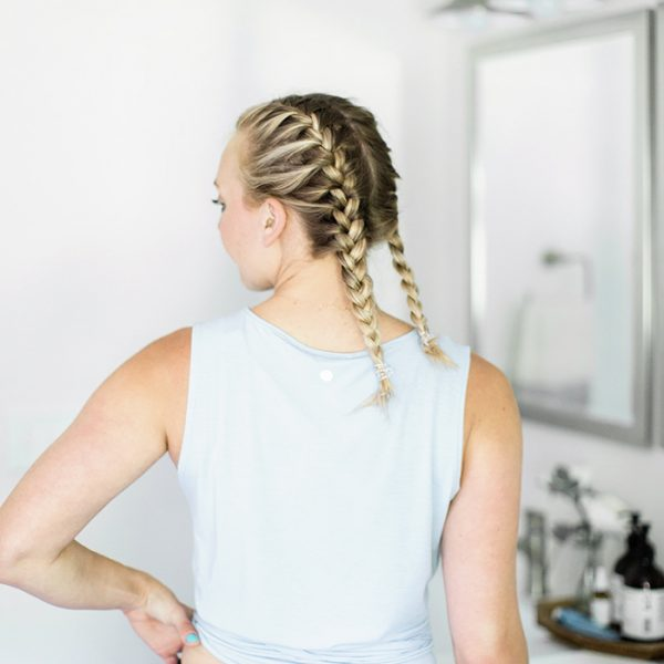 Girl, jump on the French braid bandwagon and learn how to French braid your own hair. Check out this tutorial on how to French braid your own hair. I'll walk you through it step by step as I do my own hair in pigtails.