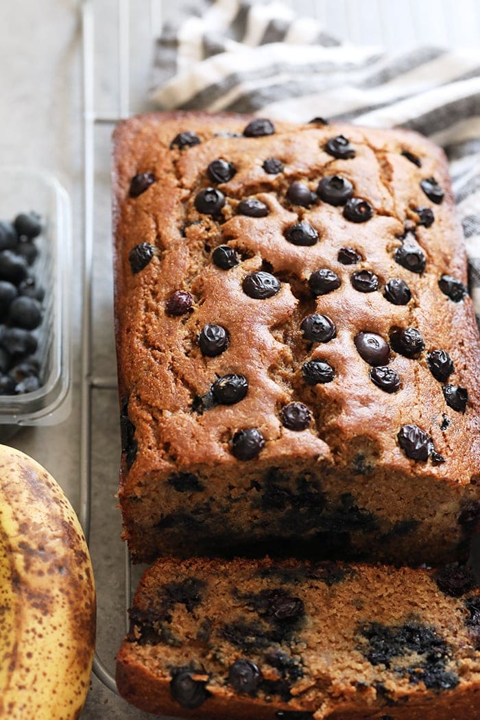Blueberry Banana Bread Healthy Fit Foodie Finds