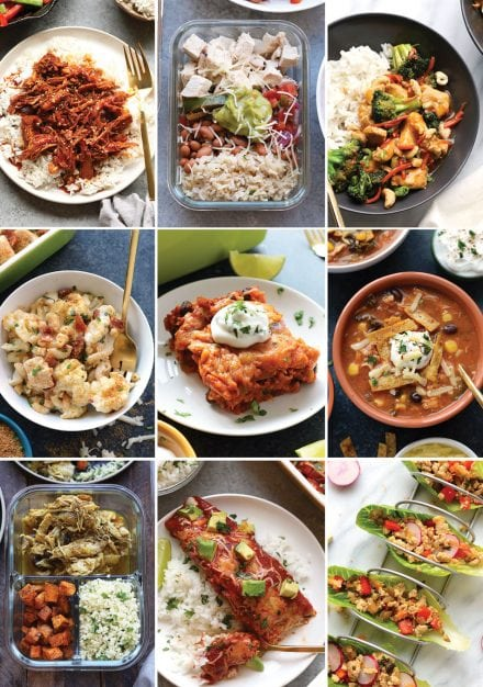 Looking for healthy lunch and healthy dinner options for the week? These Chicken Meal Prep Ideas are perfect if you're looking for a healthy meal that is quick and easy to make. Healthy mealprep is made easy with these chicken recipes that are packed with protein and made with healthy ingredients.