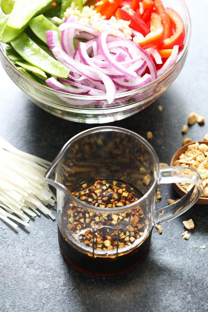 Instant Pot Vegan Pad Thai homemade sauce