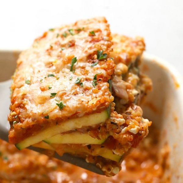 Make this delicious Lasagna Zucchini Casserole for a protein and veggie-filled dinner that's vegetarian and easy to make. This baked zucchini lasagna fuses all of the delicious flavors of Italian cooking with a midwestern, healthy twist!