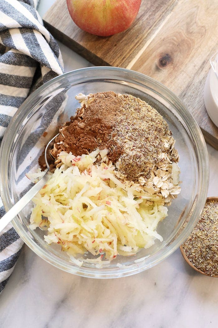 overnight oats ingredients in a bowl