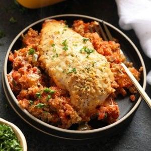 Healthy Chicken Parmesan Quinoa Casserole Fit Foodie Finds