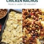 loaded chicken nachos
