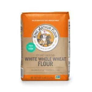 A photo of white whole wheat flour