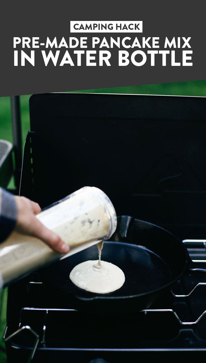 Camping Hacks: Pre-Made Pancake Mix in Water Bottle