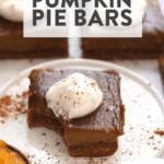 healthy pumpkin pie bars