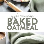 Give your favorite baked oatmeal recipe a fall twist with this amazing Apple Cinnamon Baked Oatmeal. This recipe is made with rolled oats, shredded apples, cinnamon, and a little maple syrup for good measure.
