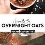 chocolate chai overnight oats
