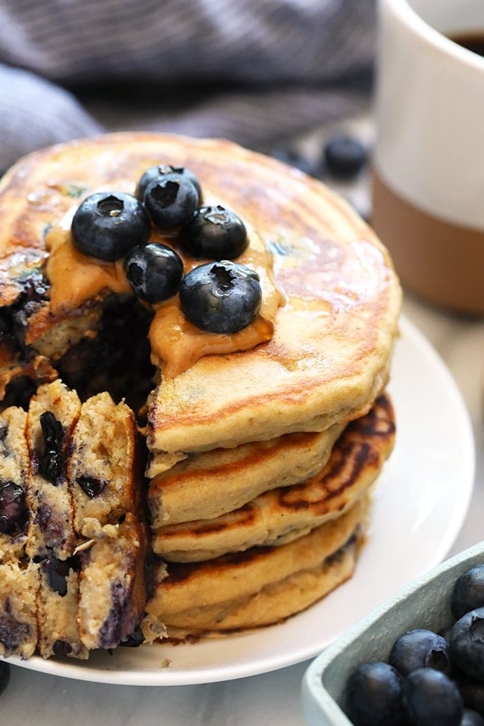 Blueberry Protein Pancakes - Fit Foodie Finds