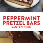 Peppermint Pretzel Bars