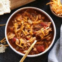 Chicken Chili in a bowl