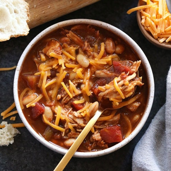 Chicken Chili in a bowl