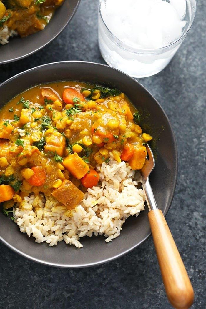 Instant Pot Sweet Potato Vegan Curry