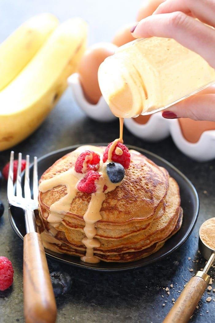 3-Ingredient PB2 Pancakes | Fit Foodie Finds