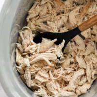 shredded chicken in slow cooker