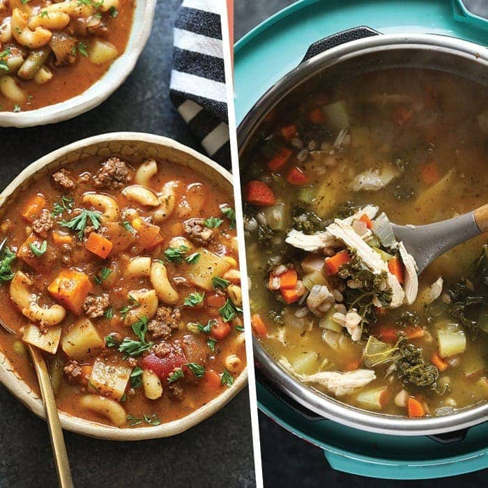 image of two soup photos in a photo collage