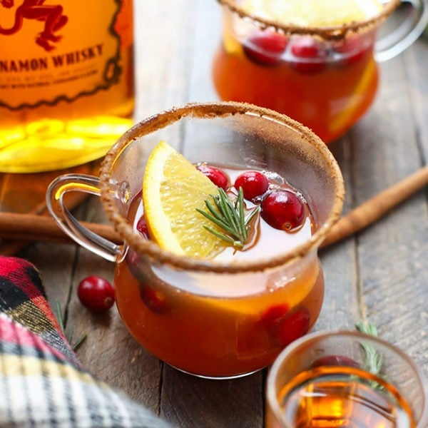 hot toddies in glasses