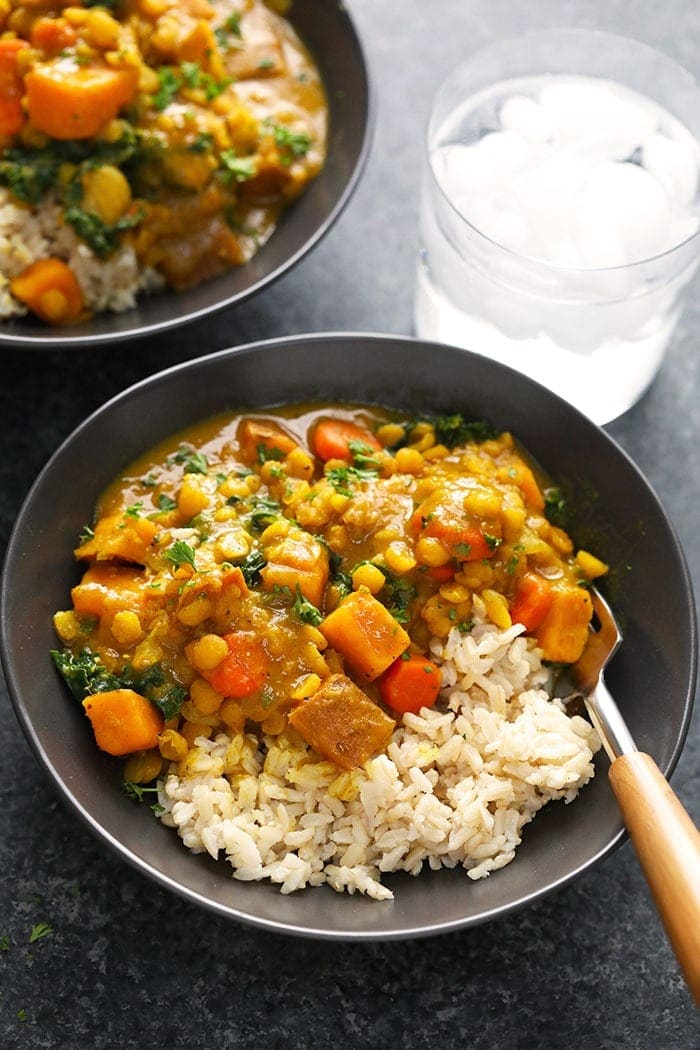 Sweet Potato Curry with Brown Rice