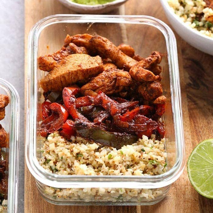 Keto Chicken Fajita Meal Prep Recipe Fit Foodie Finds