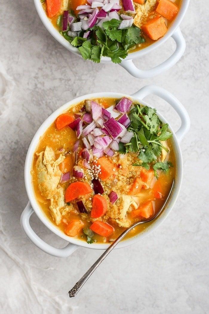 Golden Curry Chicken soup