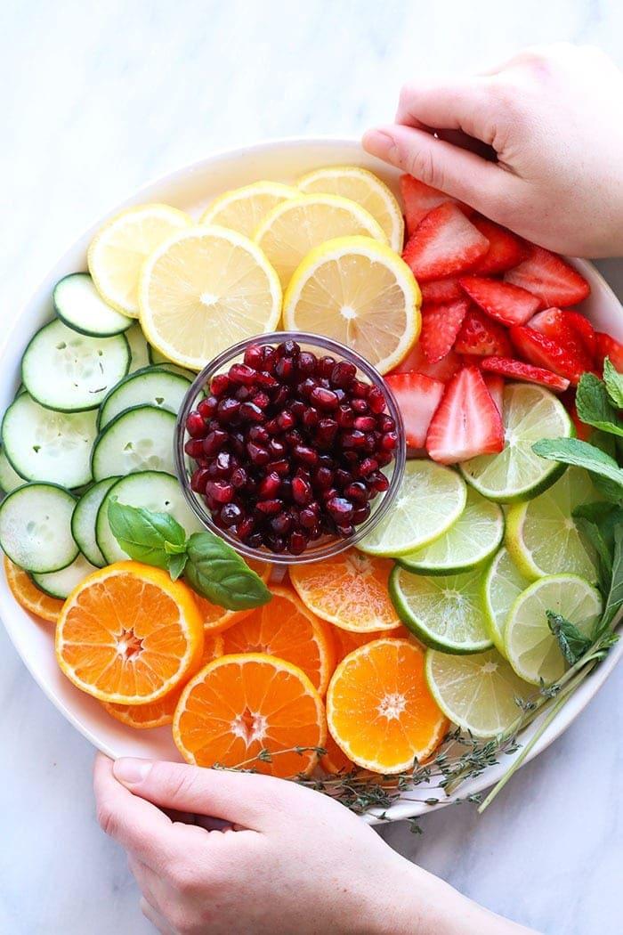 fruit infused water ingredients