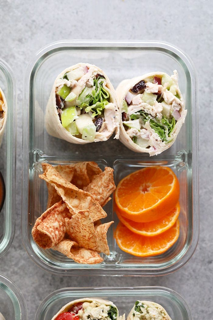 A photo of the cranberry chicken salad bento box
