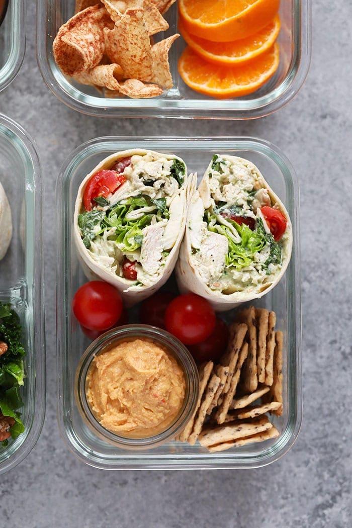 photo of BLT chicken salad bento box
