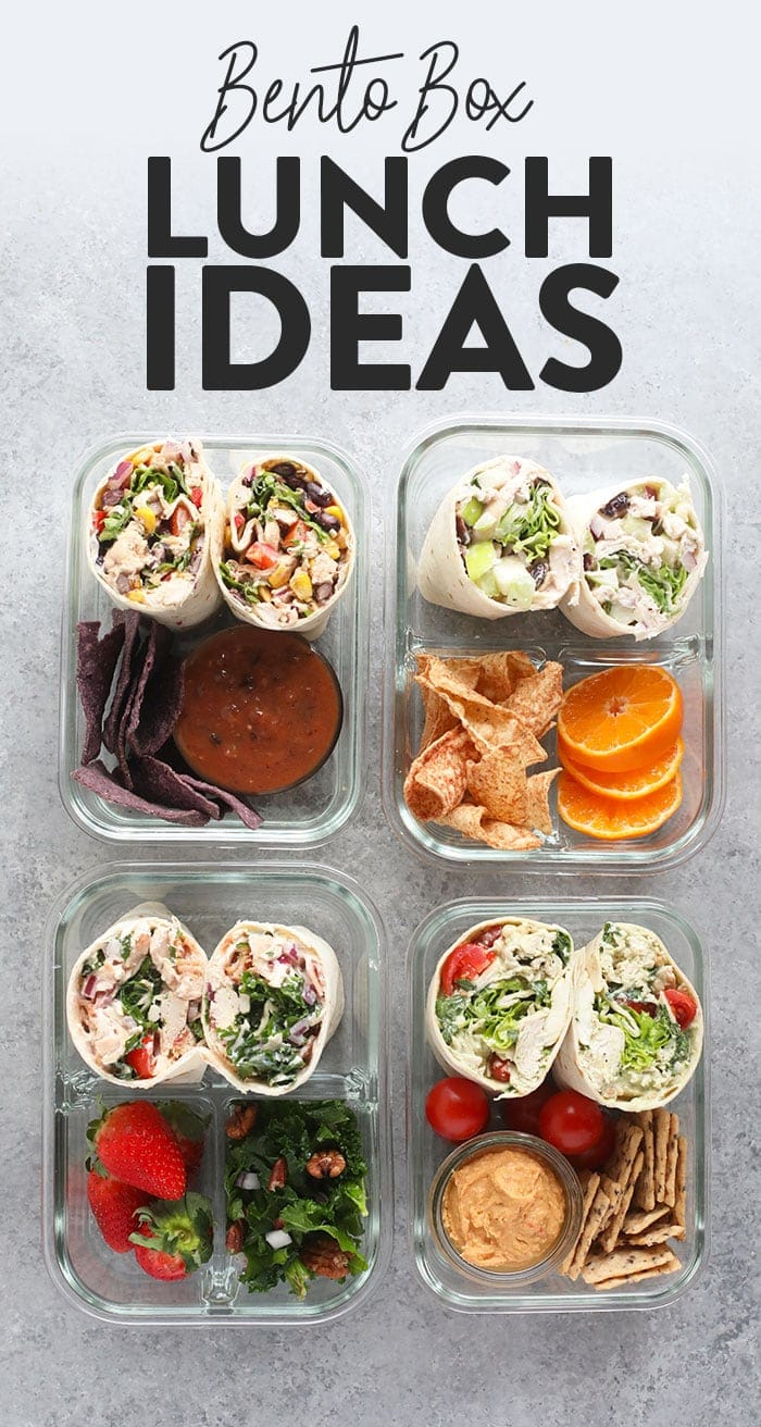 4 bento box lunch ideas