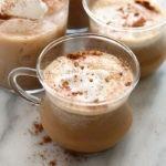 A photo of a chai tea latte in a mug